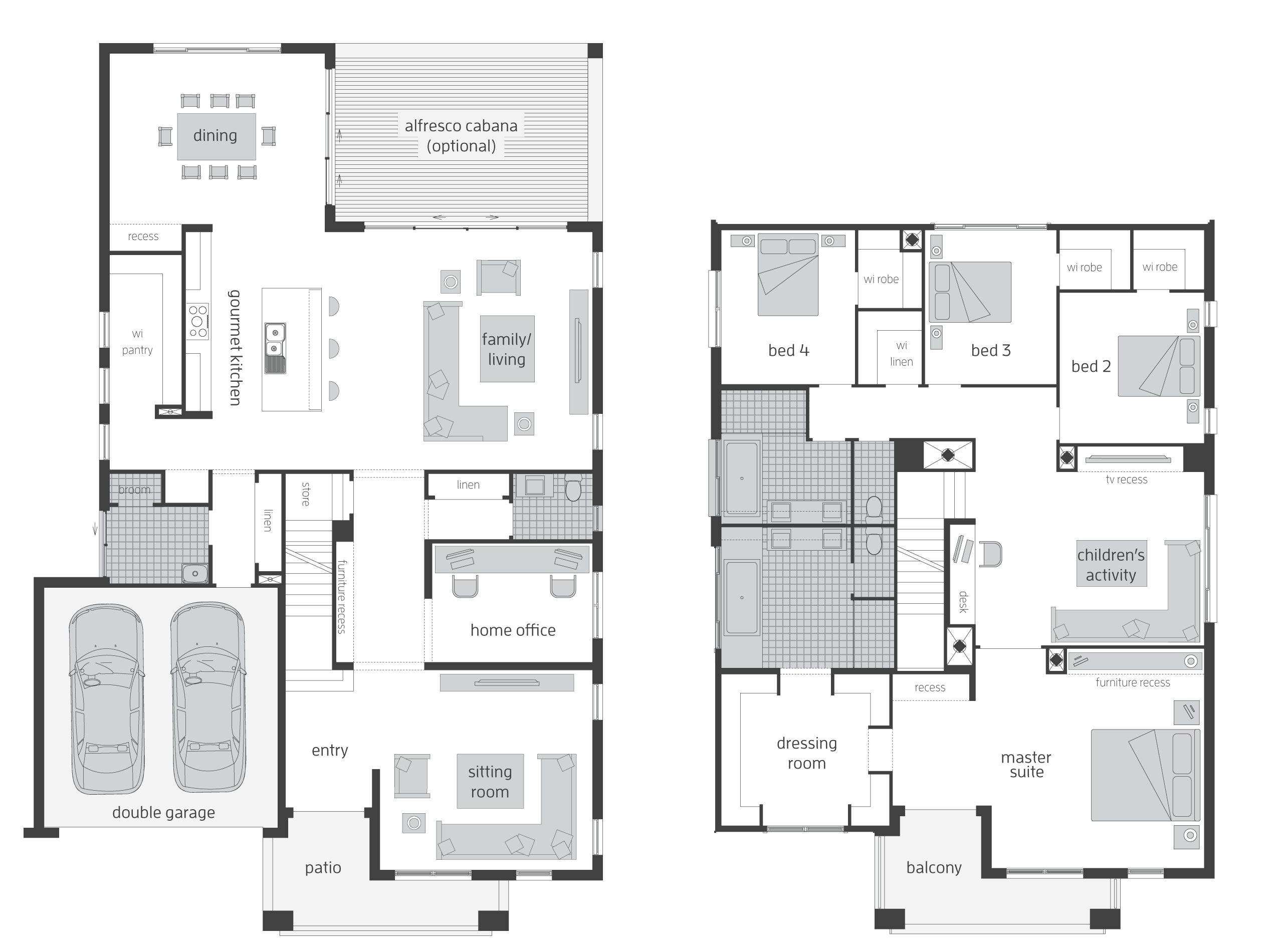 2 storey floor plan | Two storey house plans, Double ...