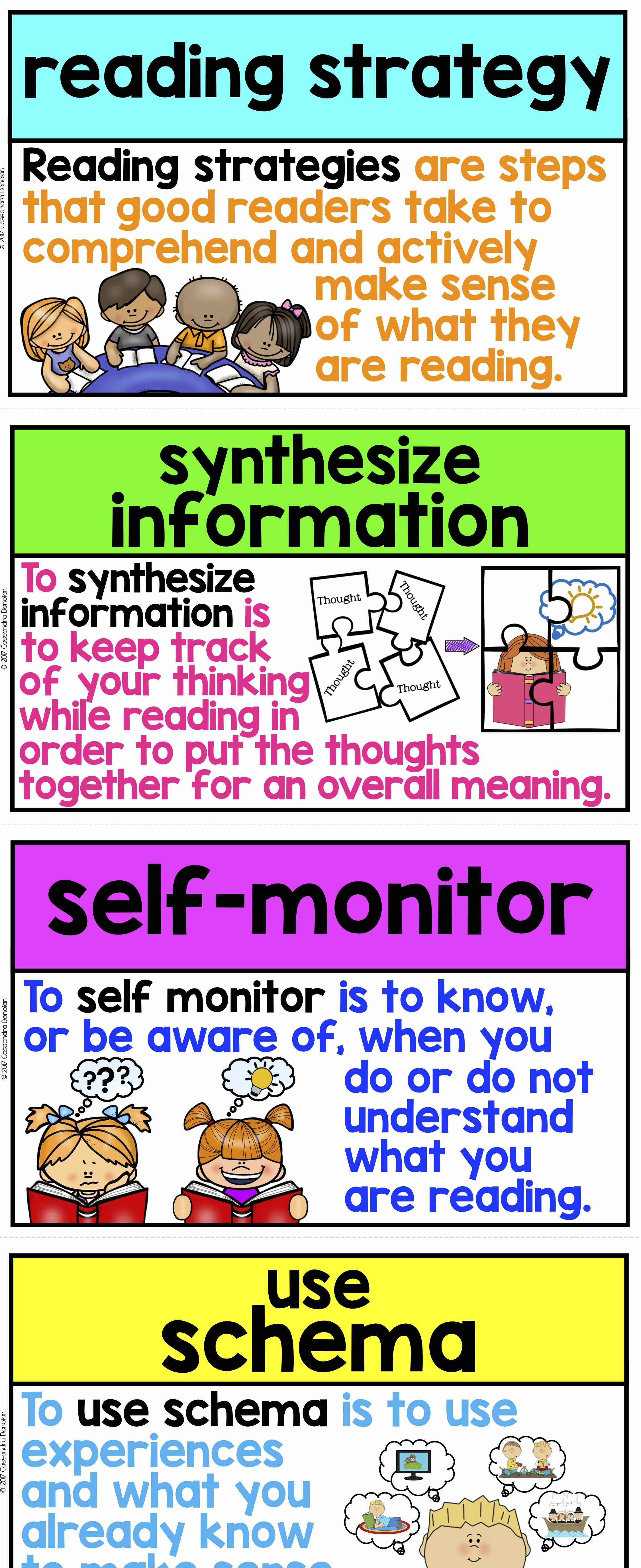 Reading Strategies Word Wall 30 Reading Strategy Posters