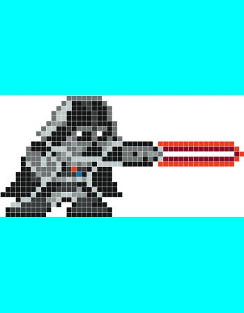 Darth Vader Pixel Art Stickaz Perle à Repasser