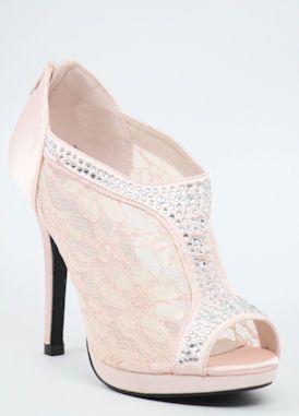 a60e7ac2431 Lace peep toe shoes, Wedding Shoes, Pink, Bridesmaid Shoe, Pink ...