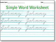 Single Word Worksheet Maker Cursive Handwriting Worksheets Cursive Writing Worksheets Handwriting Worksheets Cursive handwriting worksheet maker