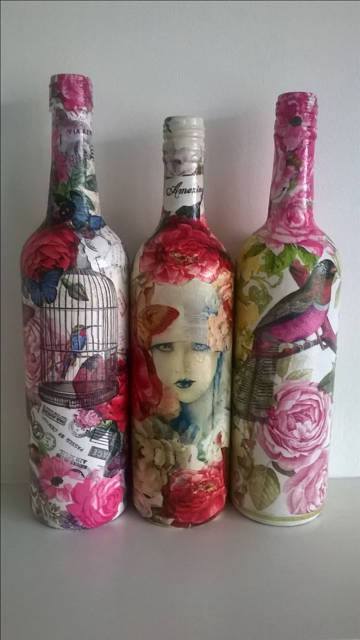 Decoupage Wine Bottles Wine Bottle Decor Wine Bottle Diy Crafts Fabric Decoupage