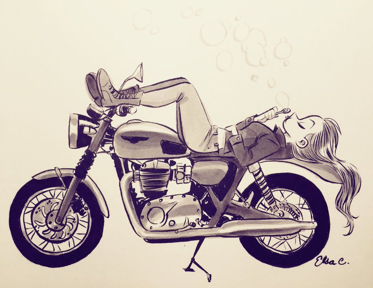 Elsa Chang On With Images Motorbike Art Bike Drawing