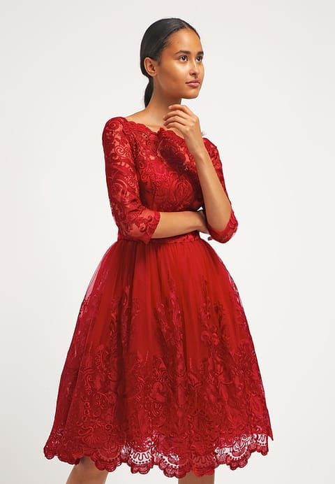 AVIANA - Cocktailkleid/festliches Kleid - red | Chi chi, Dream dress ...