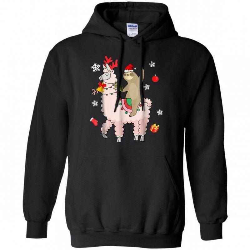 English Bulldog Reindeer Merry Christmas Gildan Hoodie Sweatshirt
