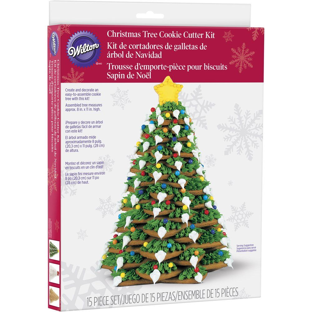 Wilton Cookie Tree Cutter Kit Click On The Picture For Added Information This Is An Affiliate Link Christm Christmas Tree Cookies Sapin De Noel Wilton