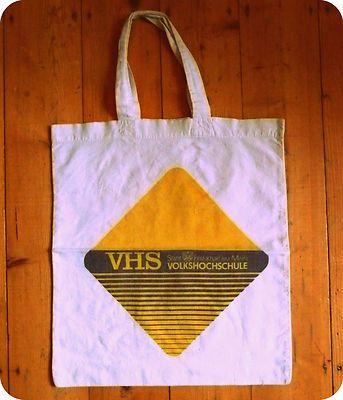 VINTAGE PERLE! VHS Blogger Jutebeutel Baumwolltasche / EBAY