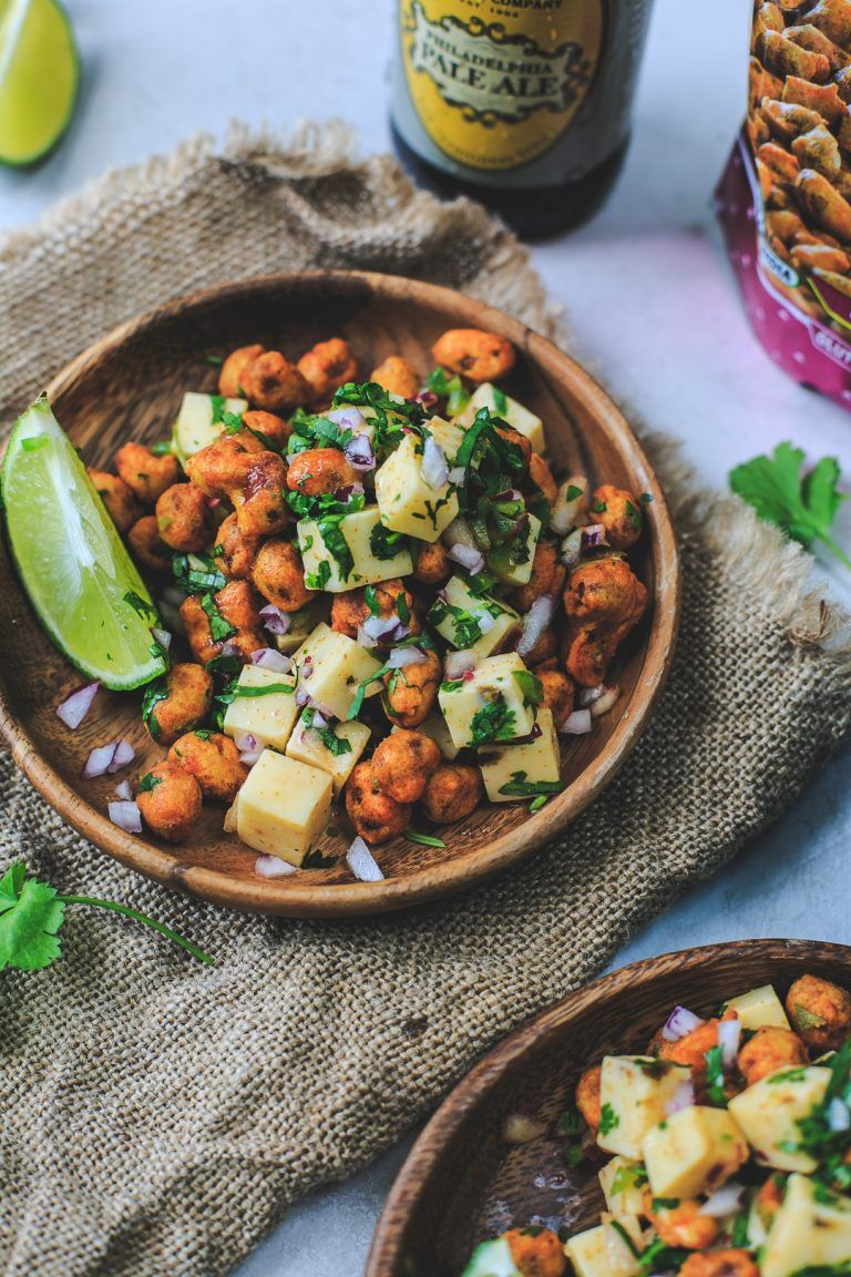Peanut & Cheese Chaat Recipe (With images) Chaat
