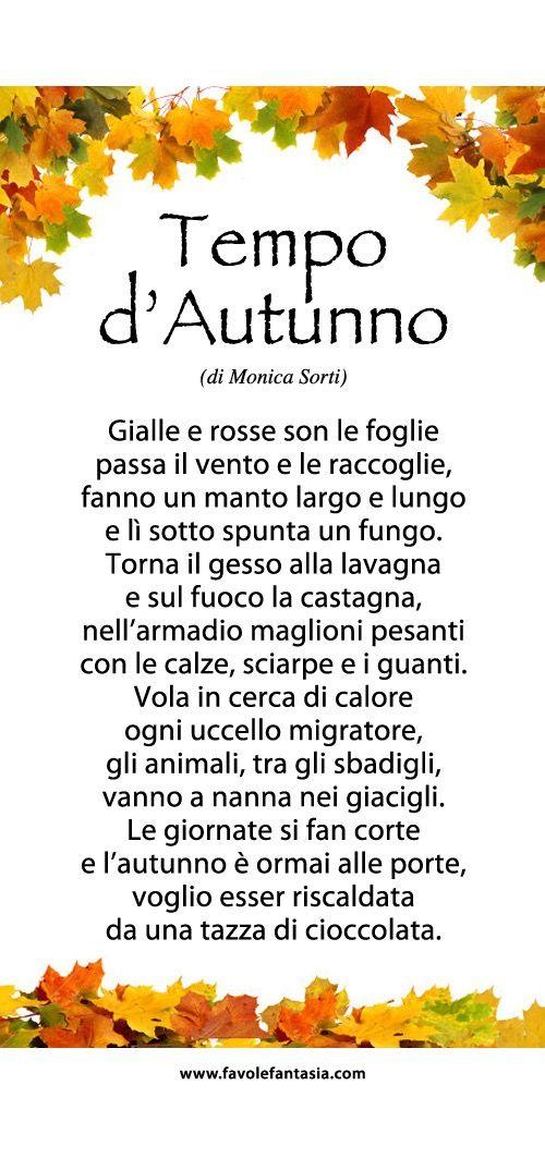 Poesia Dautunno Autunno Autumn Leaf Color Italian Language E