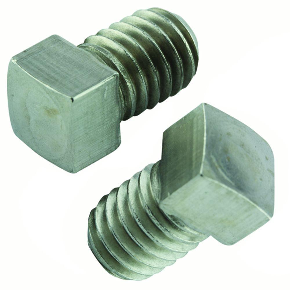 Crown Bolt 1 4 In 20 X 1 1 2 In Stainless Square Head Set Screw 2 Pack Stainless Steel Fasteners Socket Set Socket Screws