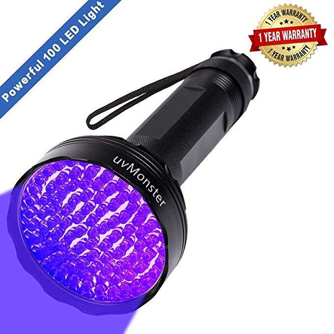 Uv Blacklight Flashlight Super Bright 100 Led 395nm Pet Dog Cat Urine Detector Light Flashlight For Pet Urine S Black Light Flashlight Uv Flashlight Pet Urine