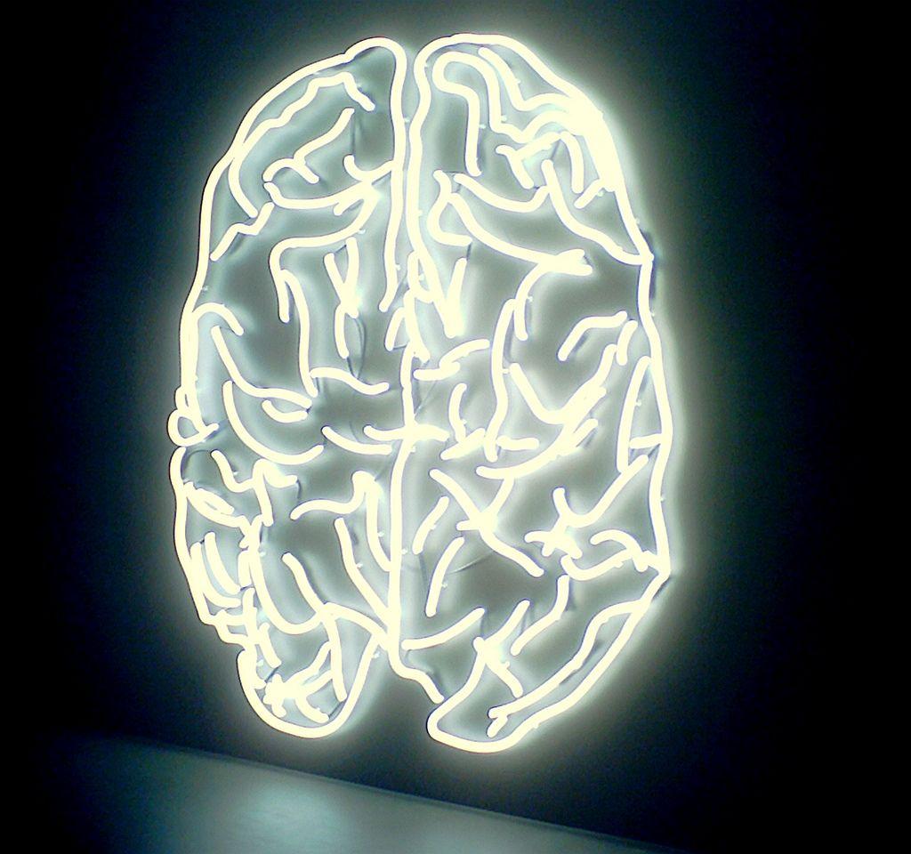 electric brain neon art   Brain Matters in 2018   Pinterest   Brain ...