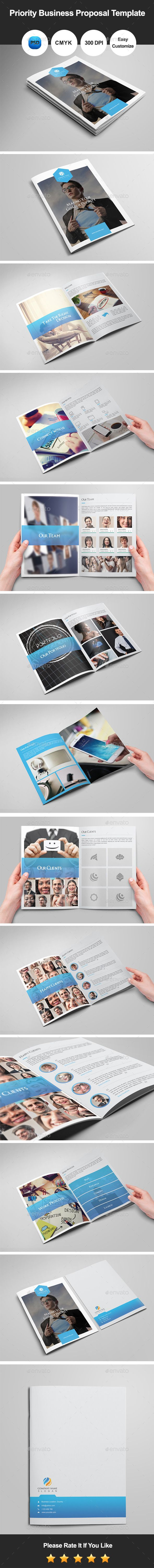 Priority Business Proposal Template by graphicsdesignator We