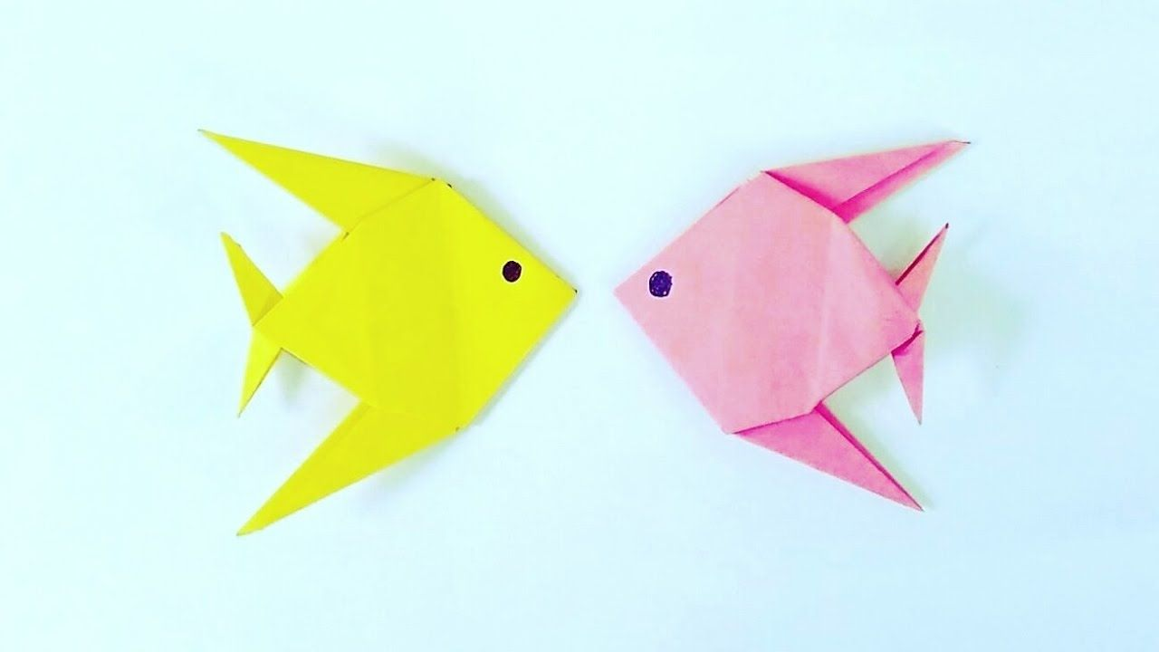 Step-By-Step Instructions for Making an Origami Fish | 720x1280