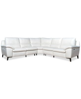 Alessandro Leather Power Motion Sofa Reviews Wing Slipcover Stefana Reclining Sectional Only At Macy S Macys Com