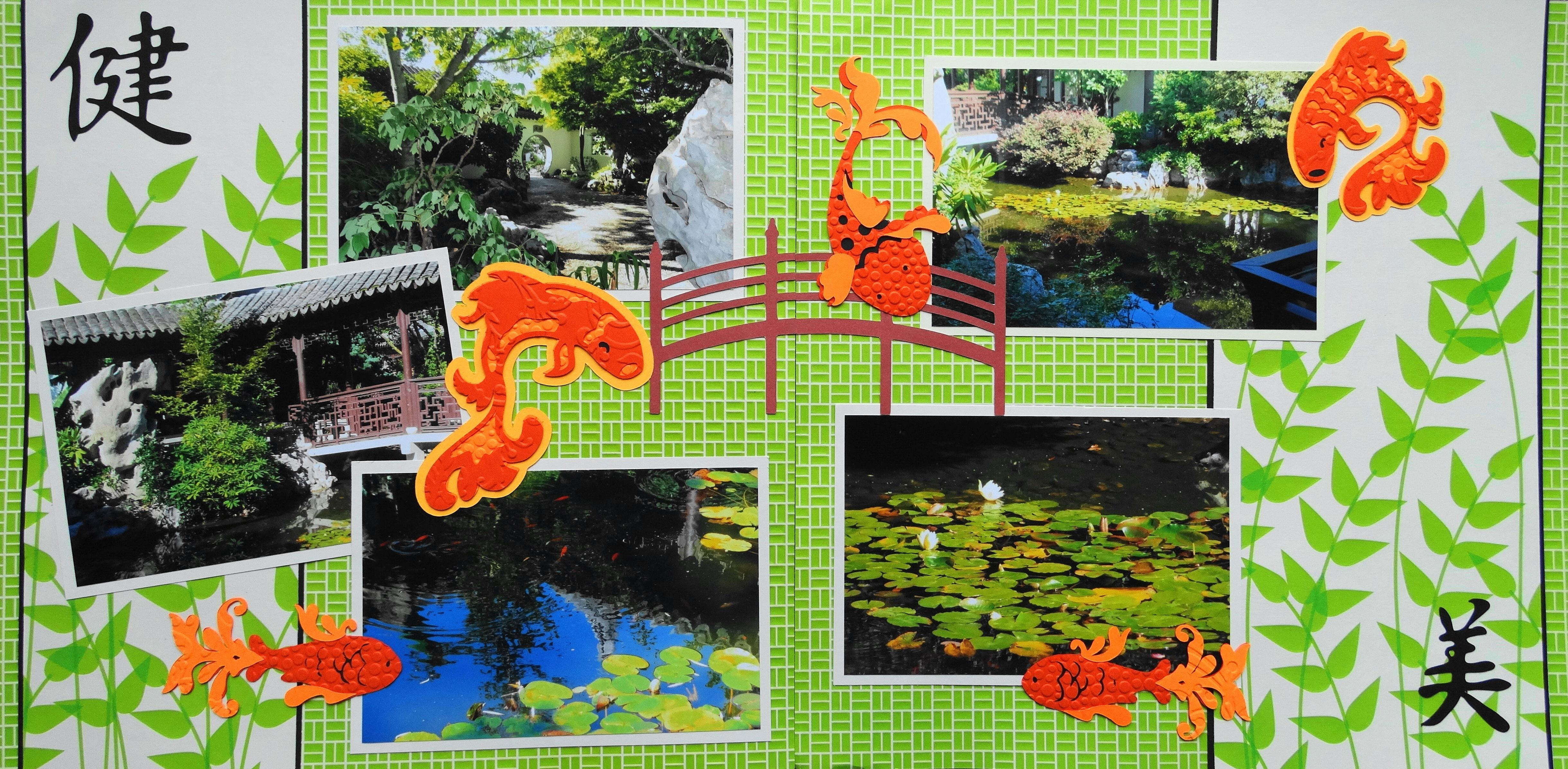 Scrapbook Page  Japanese Gardens In Portland  2 Page