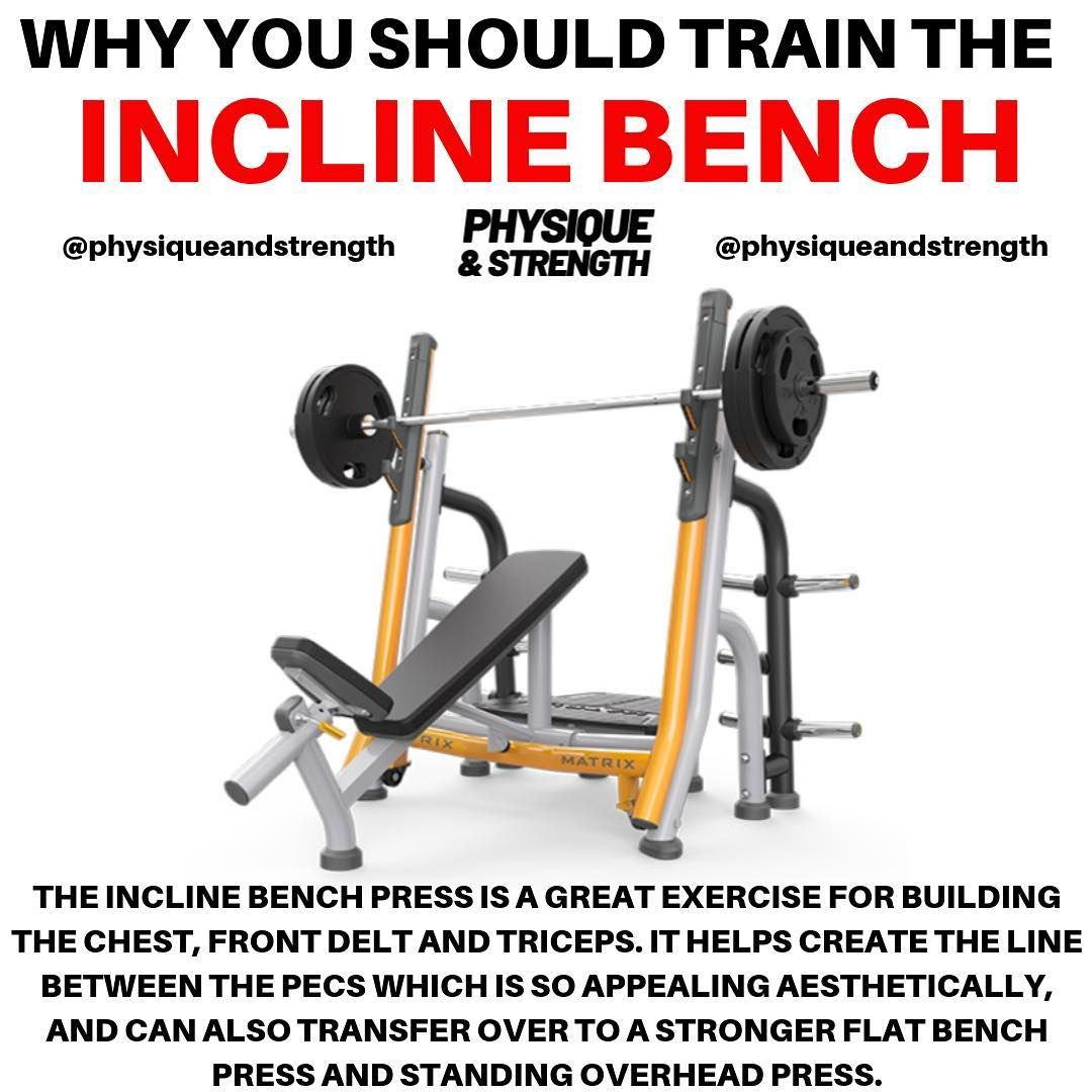 Do You Want To Build Your Chest Comment Down Below How Much You Can Incline Bench Press Tag Your Spotter Incline Bench Gym Tips At Home Workouts