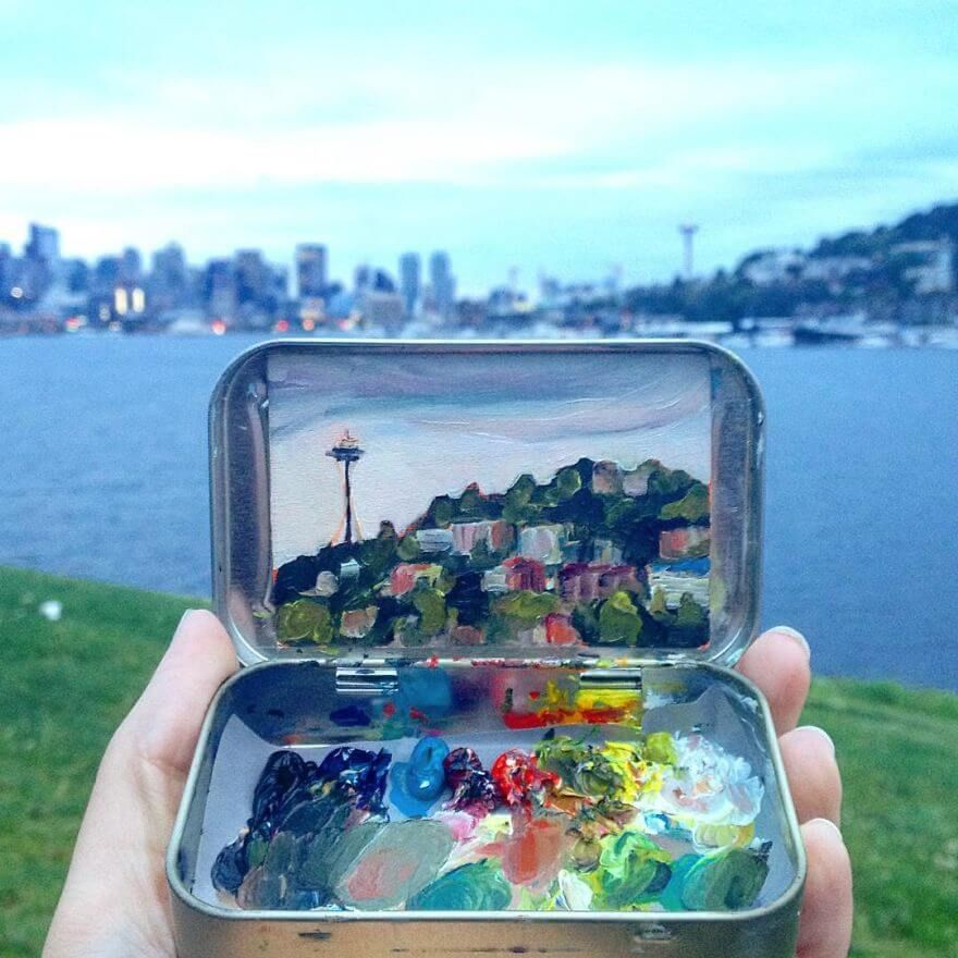 Heidi Annalise Creates Stunning Tiny Landscapes Of Her Travels Across The USA #art #artist #landscape #photography #image #photo
