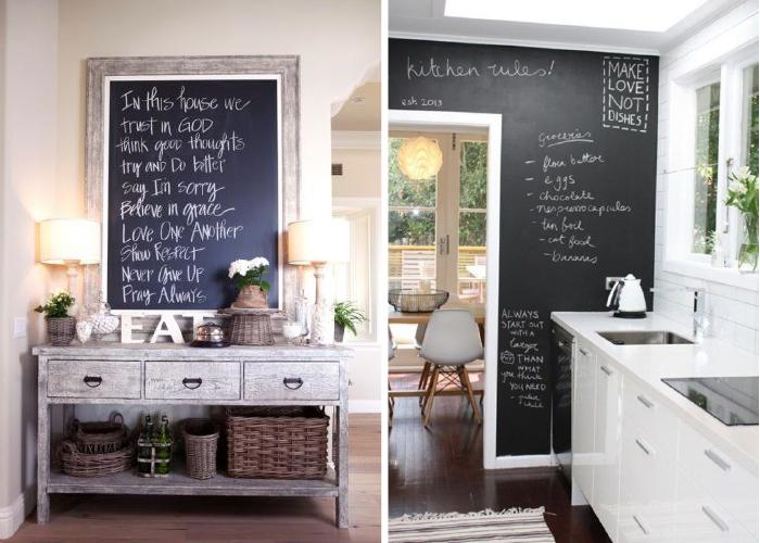 Pizarras en todas partes - 10 ideas para decorar tu casa con poco ...