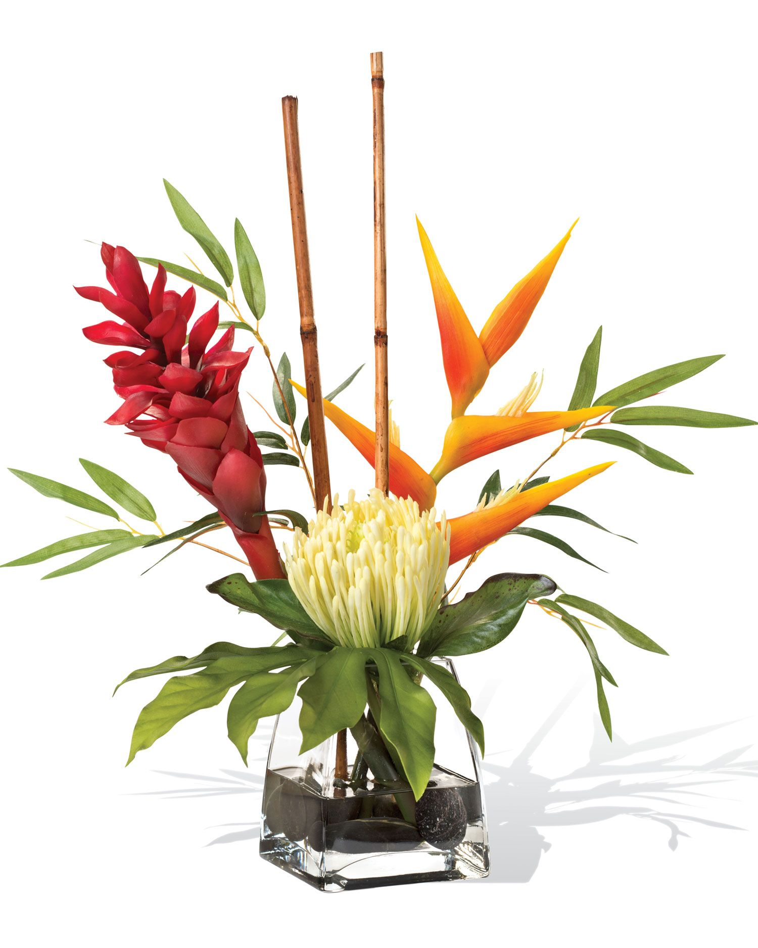 Protea Torch Ginger Accent Silk Flower Arrangement Artificial Flower Arrangements Artificial Flowers Artificial Plants