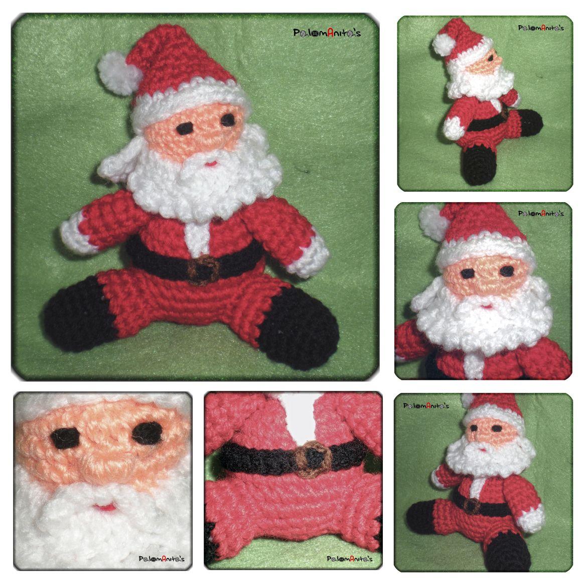 Patrón de Papá Noel de Ganchillo   Papá noel, Noel y Papás