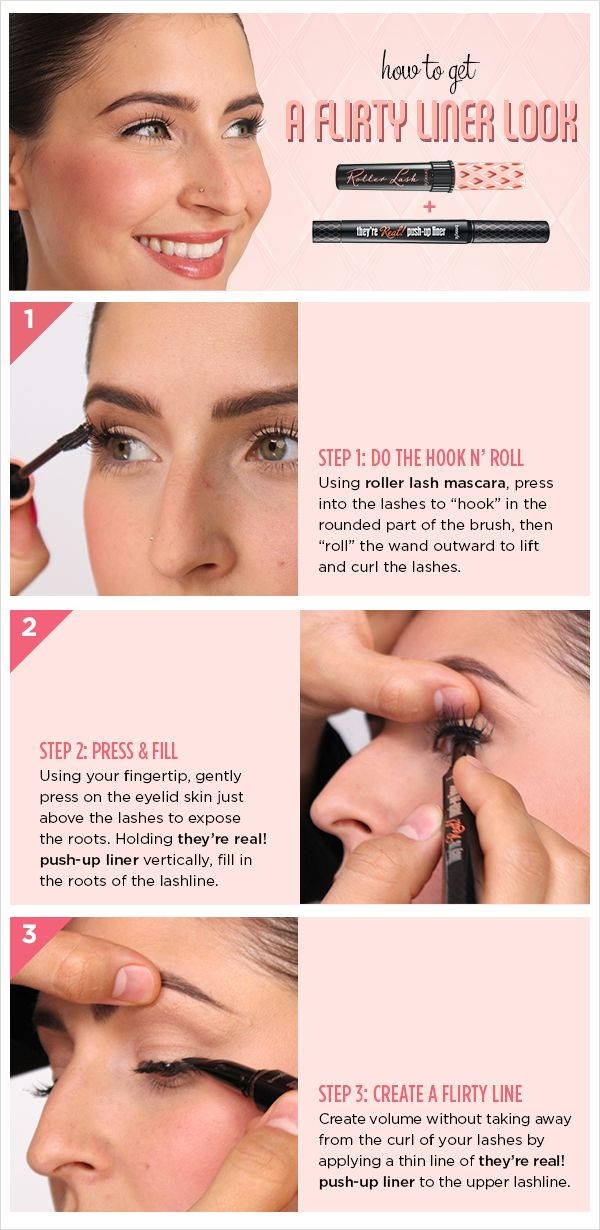66bfbdc3925 3 steps to the easiest flirty look for your eyes! xx Benefit Makeup, Benefit