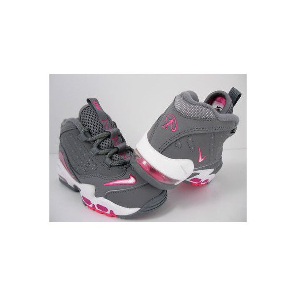 NIKE AIR GRIFFEY MAX II GIRLS TODDLER GREY-PINK SZ 6C (443959 006)