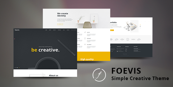 Foevis – A WordPress Theme For Creative Agency