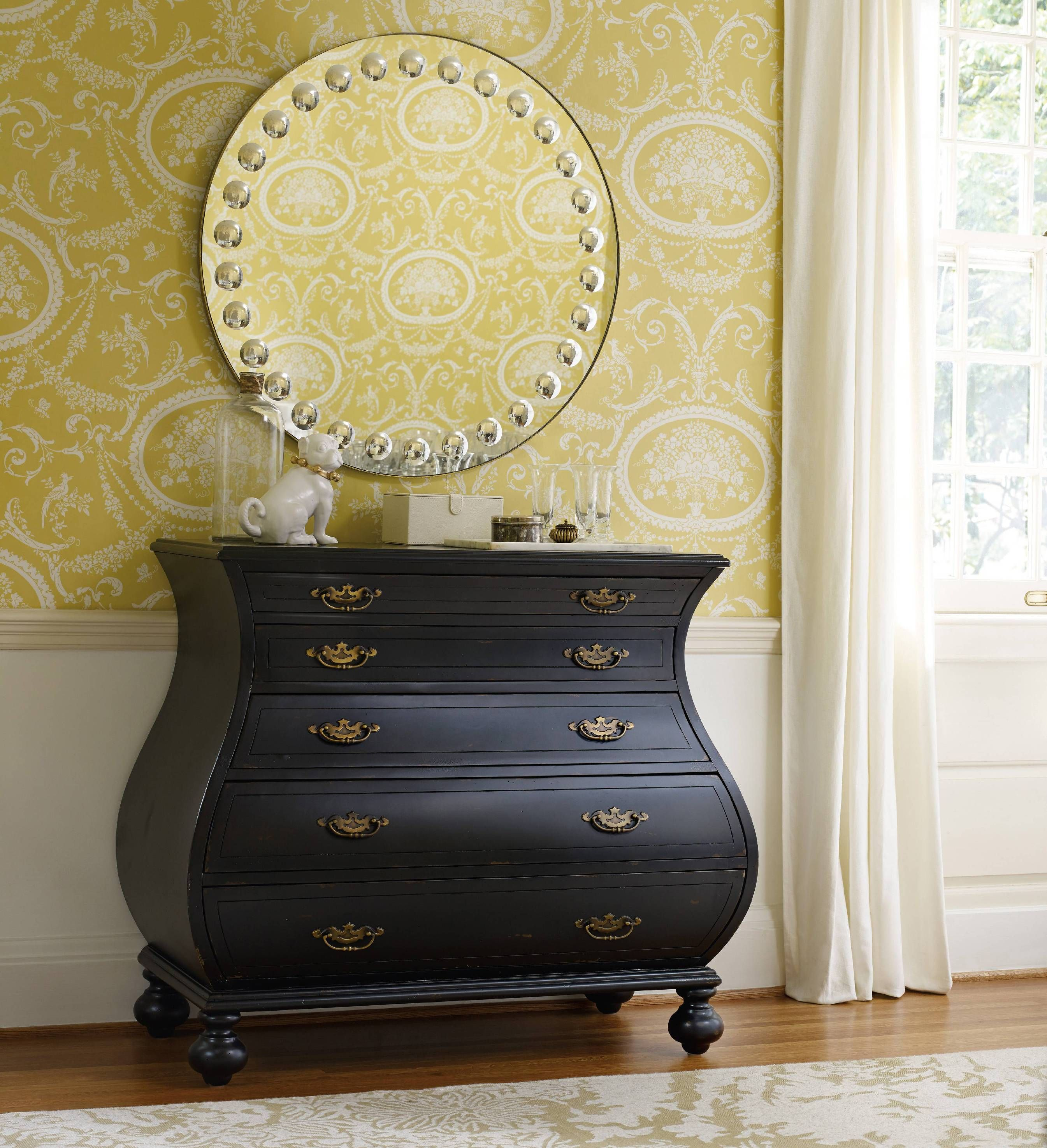 Hooker Furniture Living Room Black Bombe Chest 5219-85001 | DIFFA ...