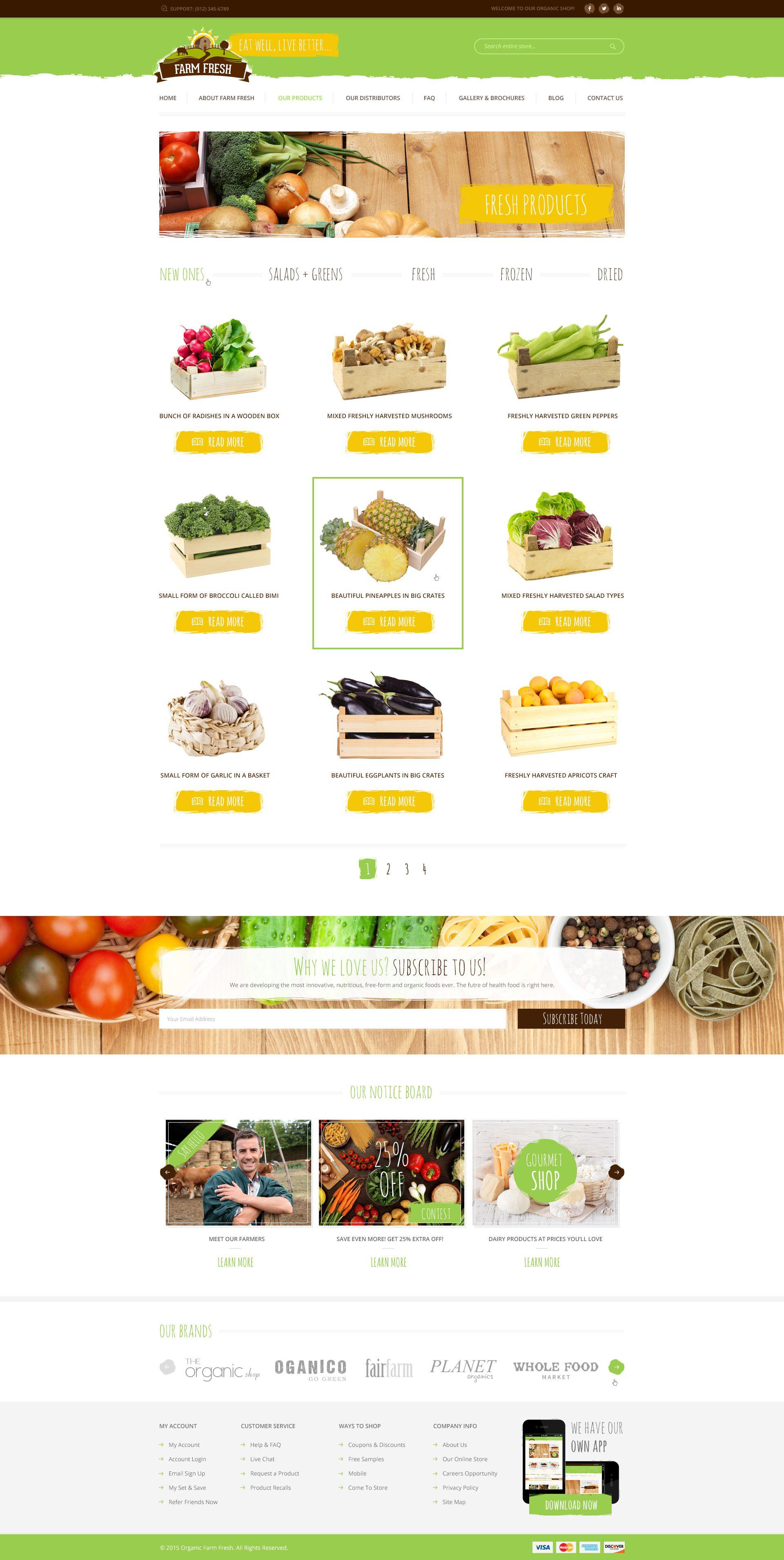 Farm Fresh Organic Products PSD Template Organic,