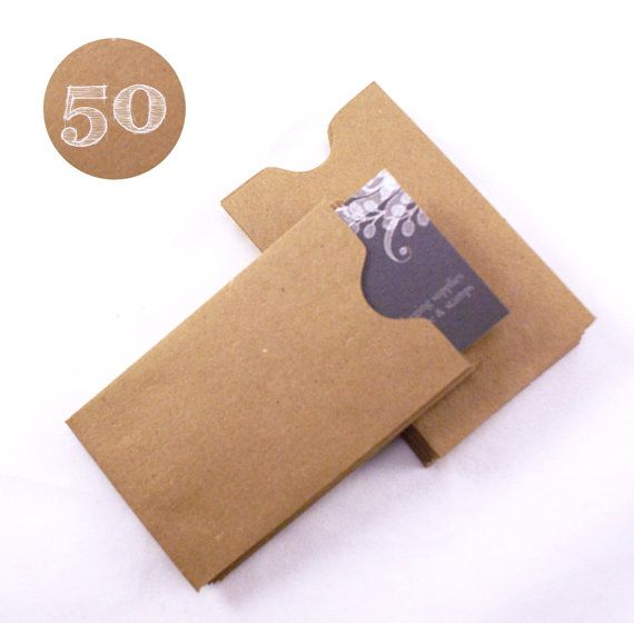 Set of 50 recycled kraft brown gift card or business card sleeves set of 100 recycled kraft brown gift card or business card sleeves mini envelopes x colourmoves