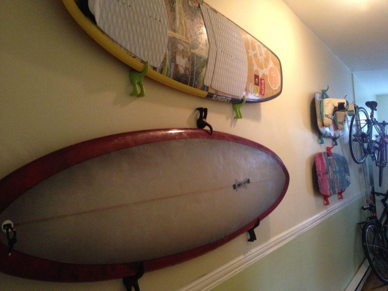 100 Génial Idées Accrocher Planche De Surf Au Mur