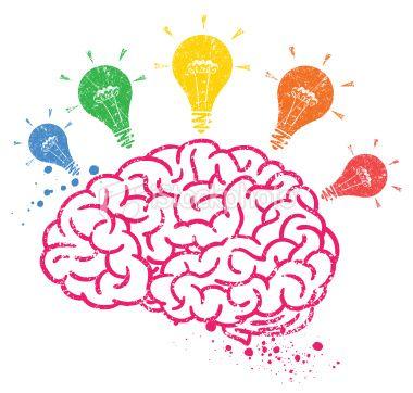 Download Creative brain with bulbs. Editable vector illustration ...