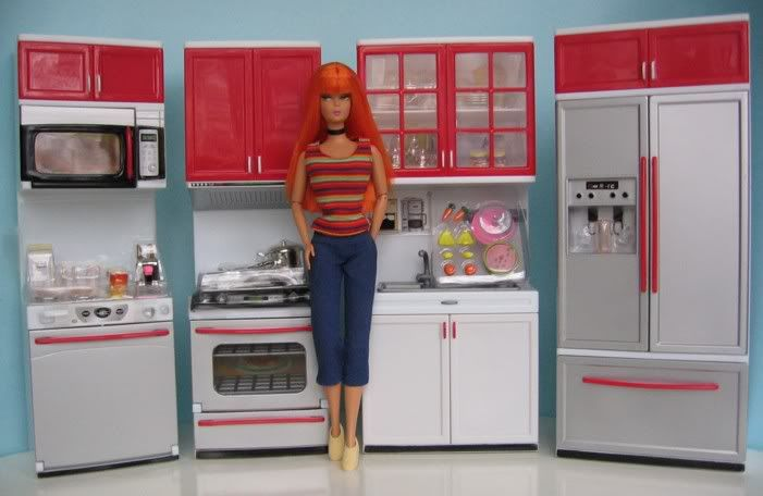 barbie furniture kitchen www imgarcade com online deluxe kitchen play set for barbie gloria my fancy life
