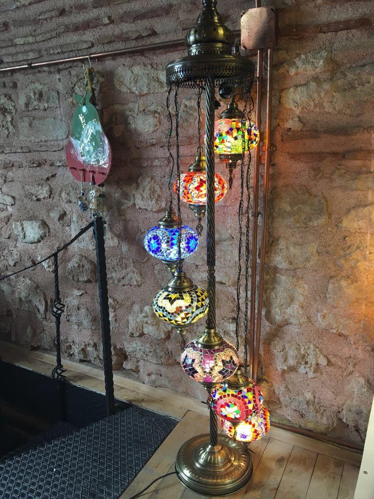 HANDMADE TURKISH MOSAIC FLOOR LAMP, 7 LAMPS | MOSAIC LANTERNS ...