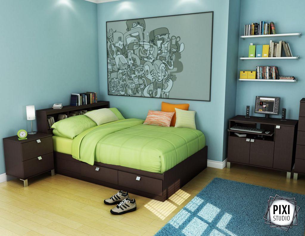 Safety For Boys Bedroom Furniture: modern-dark-brown-boys-bedroom ...