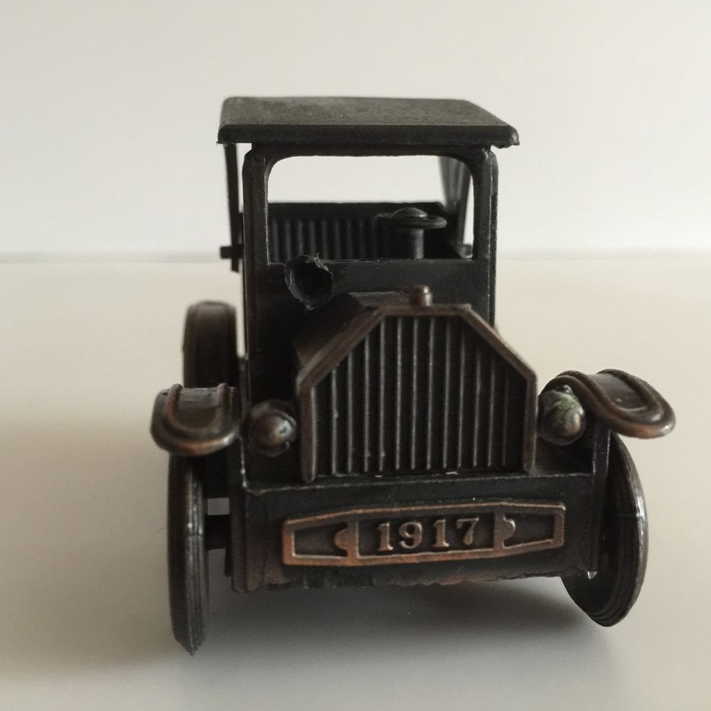 Vintage 1917 Ford Classic Car Miniature Model Die-Cast Metal ...