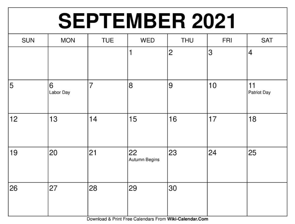 September 2021 Calendar In 2020 December Calendar Calendar Free Calendars To Print