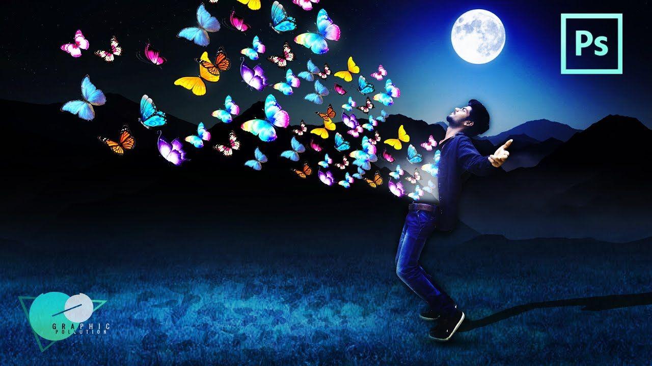 Photoshop tutorial photo manipulation moon light effect in photoshop tutorial photo manipulation moon light effect in butterfly m baditri Gallery