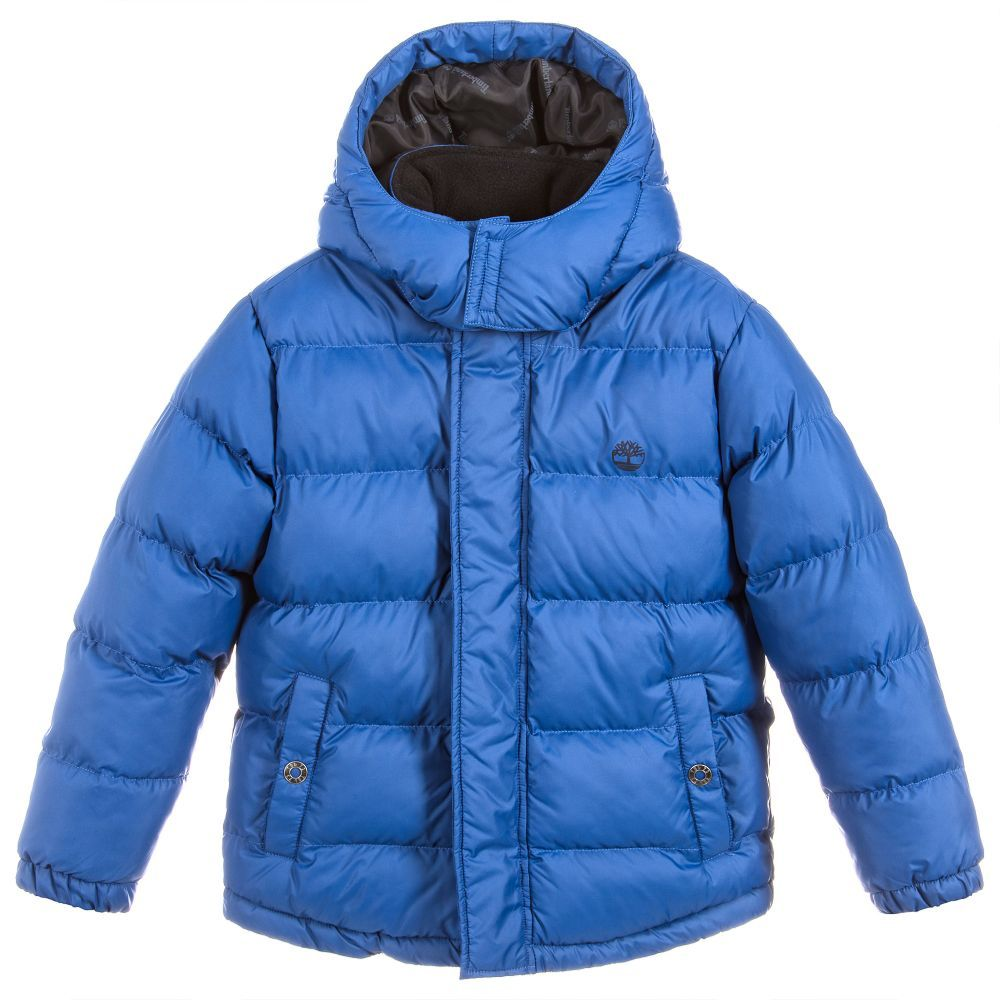 160c4011a Boys Blue Puffer Jacket for Boy by Timberland. Discover the latest ...