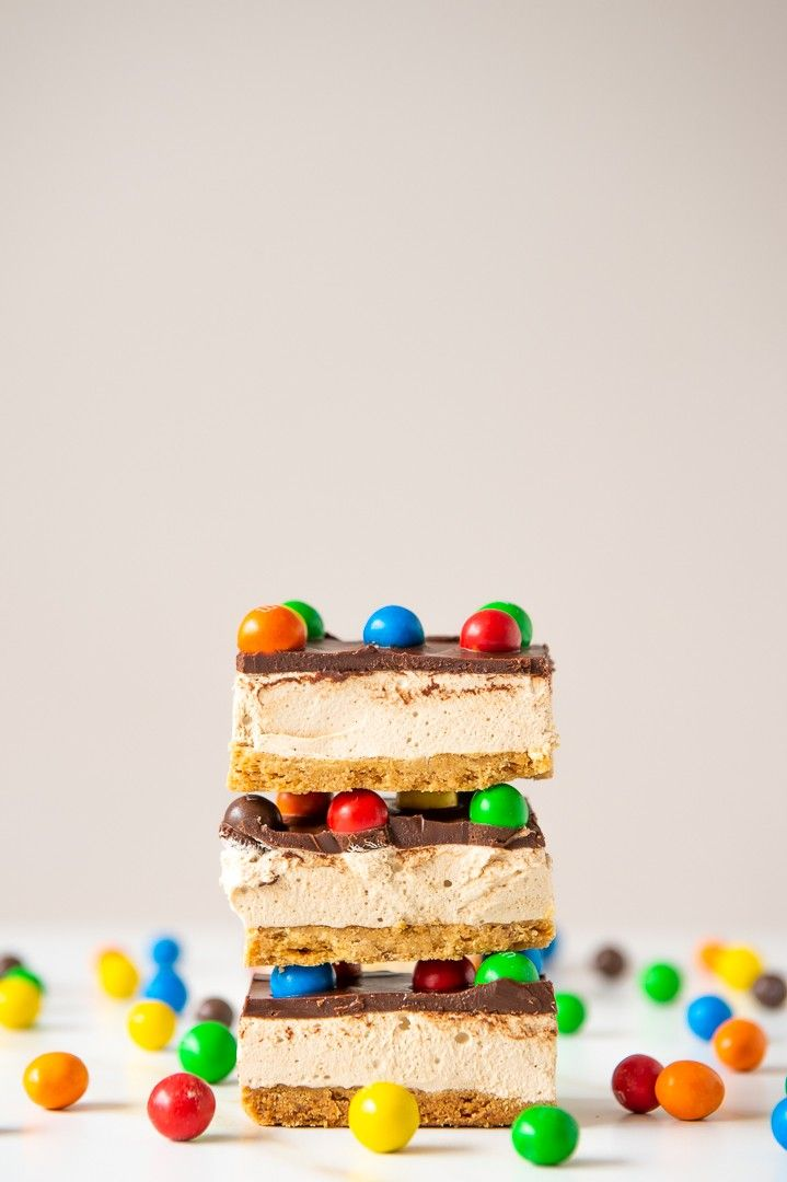 Salted Caramel M&M's Multimillionaire Marshmallow Bars - The Sweet Rebellion delicious crunchy brown butter shortbread, topped with a salted caramel marshmallow and a layer of choc ganache loaded with Salted Caramel M&M's