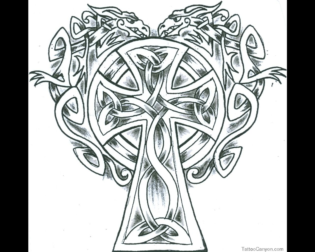 Celtic Cross Coloring Pages Very Nice Fine Elaborate Knotwork