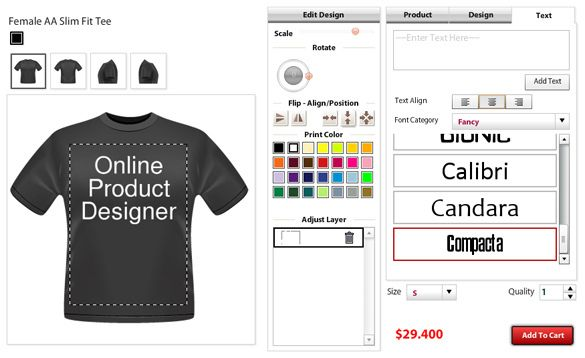 Start designing t shirt online with custom t shirts design for Online software design tool