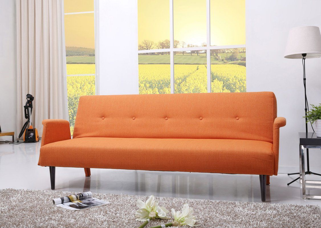 Charmayne Sleeper Sofa With Images Sofa Bed Orange Convertible Sofa Bed Convertible Sofa