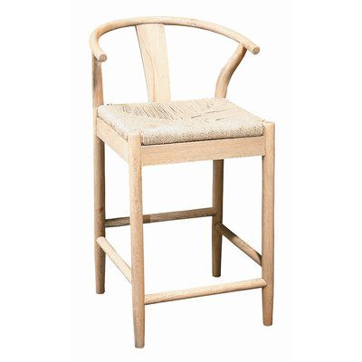 Wicker Rattan Wood Counter Height Bar Stools You Ll Love