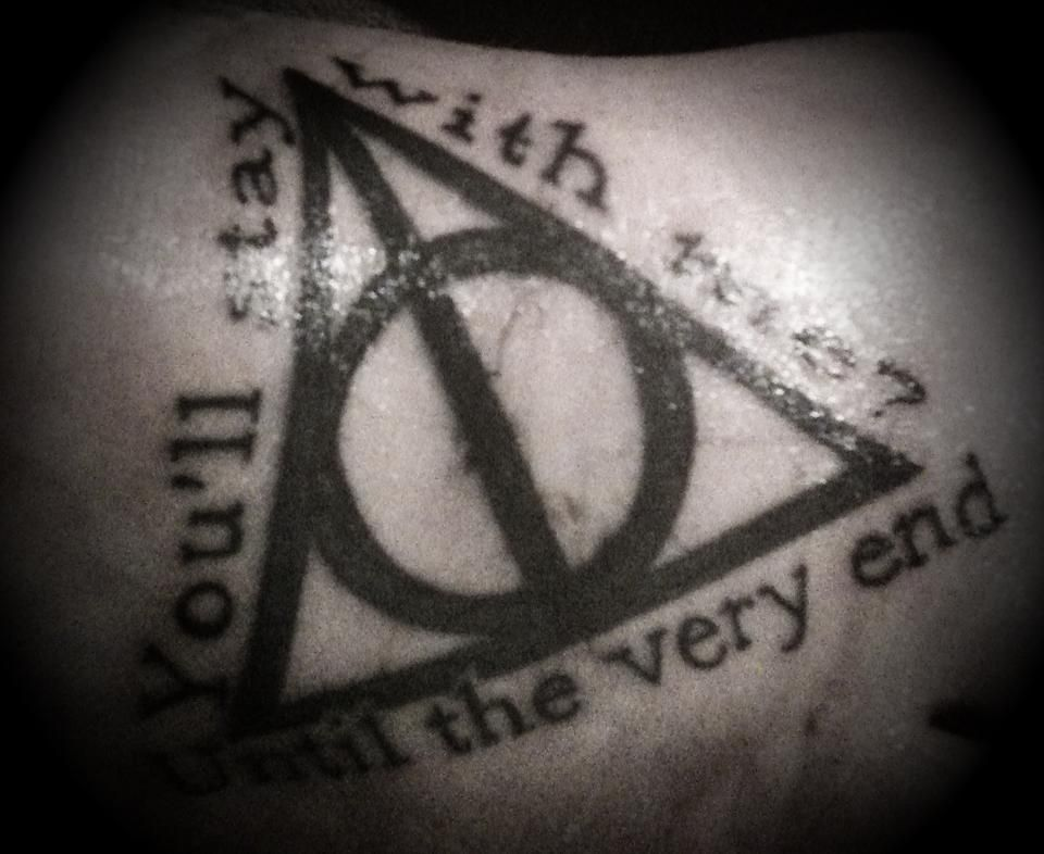 Harry Potter Until The Very End Quote Quora: Deathly Hallows Tattoo. You'll Stay With Me? Until The