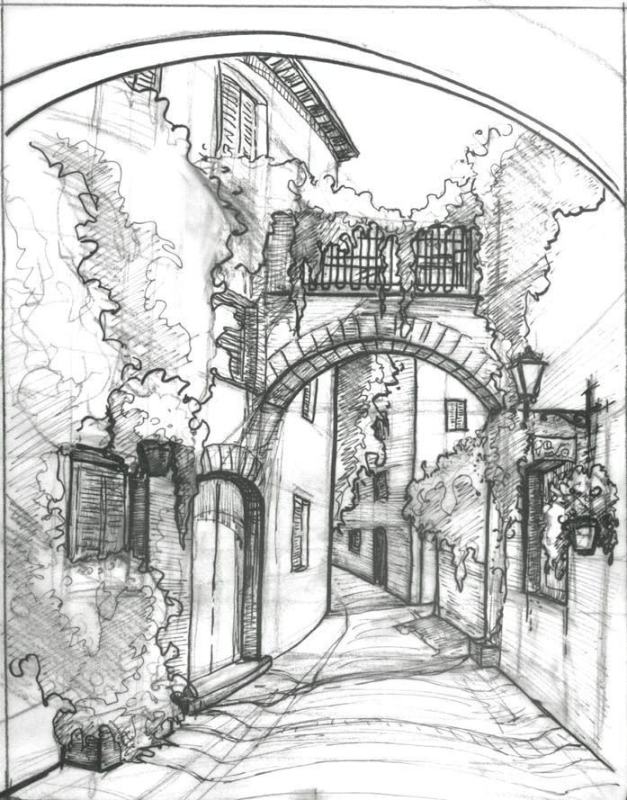 Pin By احمد لبابيدي On Harsha Arts Landscape Sketch Architecture Drawing Landscape Drawings