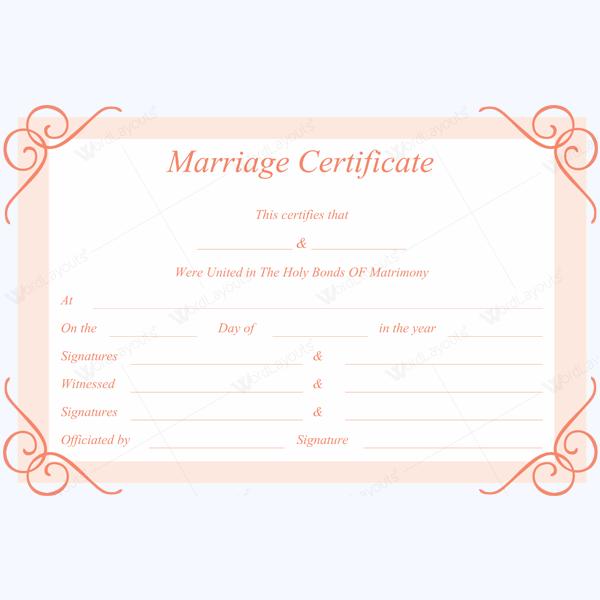 Sample Of Marriage Certificate weddingtemplate marriage – Sample Marriage Certificate
