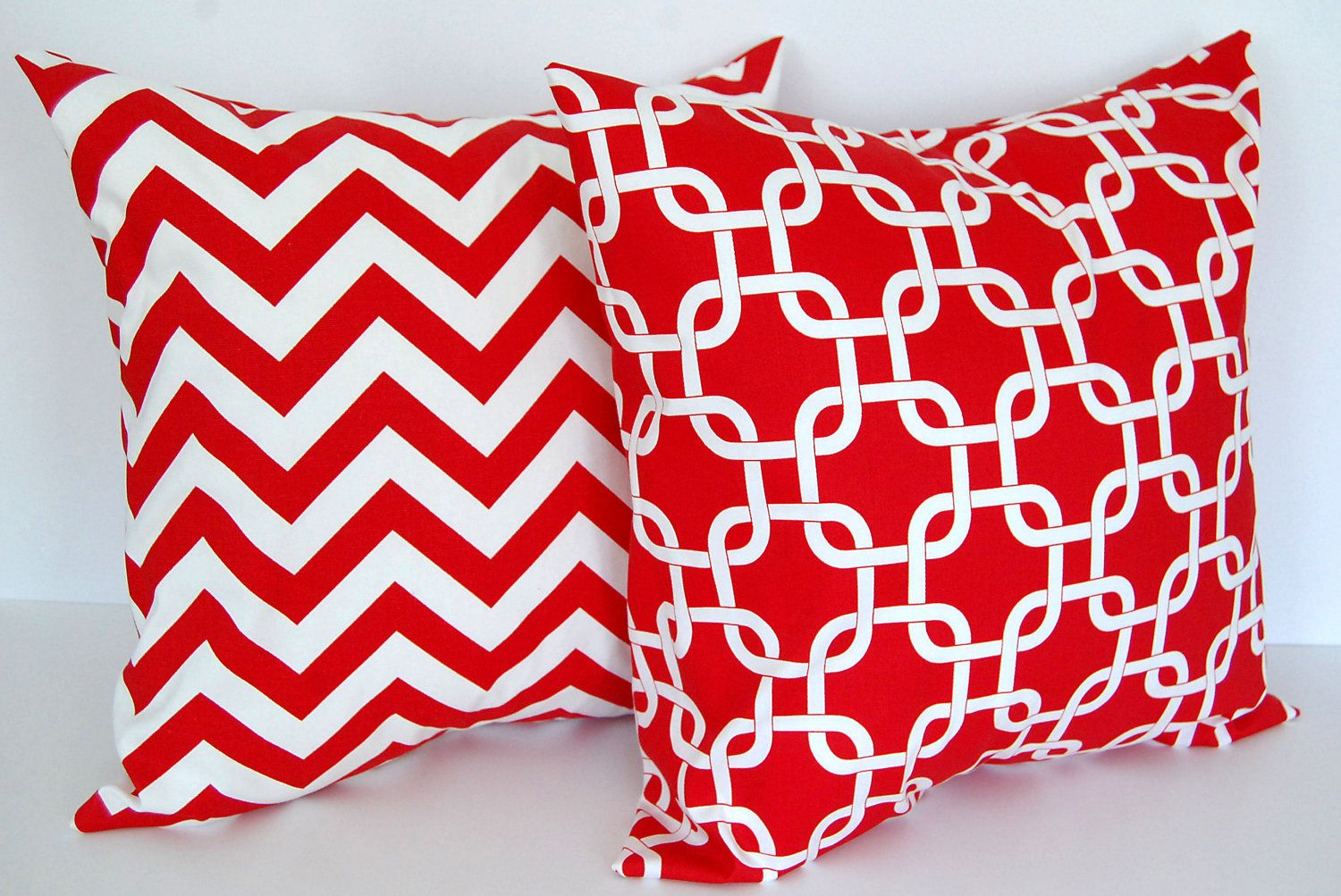 Cute Throw Pillows Pinterest : CUTE!! Red throw pillow covers set of two 18