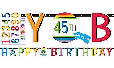 Rainbow Happy Birthday Banner Kit Party City